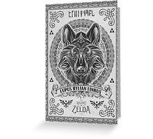 Legend of Zelda Twilight Princess Wolf Link Line Artly  Greeting Card