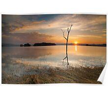 Sunset at lake Pompee Poster