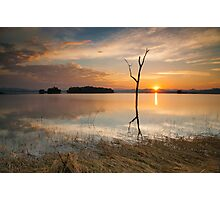 Sunset at lake Pompee Photographic Print