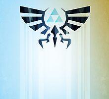 Legend of Zelda Hyrule Rising Minimal Vector Poster  by barrettbiggers