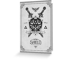 Legend of Zelda Hylian Shield Geek Line Artly  Greeting Card