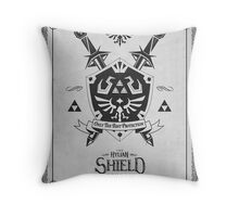 Legend of Zelda Hylian Shield Geek Line Artly  Throw Pillow