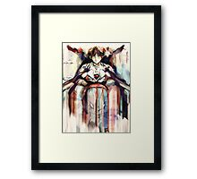 Shinji Evangelion Anime Tra Digital Painting  Framed Print