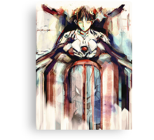 Shinji Evangelion Anime Tra Digital Painting  Canvas Print