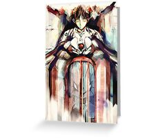 Shinji Evangelion Anime Tra Digital Painting  Greeting Card