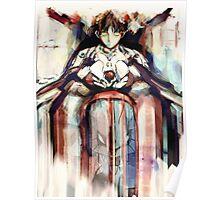 Shinji Evangelion Anime Tra Digital Painting  Poster