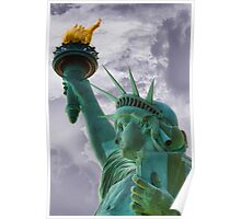 Profile of Lady Liberty Poster