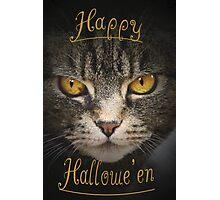 Happy Halloween Cat Photographic Print