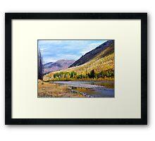 Glacier Park Autumn 4 Framed Print