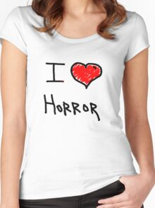 i love halloween horror  Women's Fitted Scoop T-Shirt