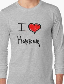 i love halloween horror  Long Sleeve T-Shirt