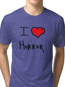 i love halloween horror  Tri-blend T-Shirt
