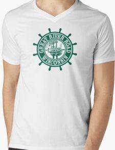 Great River Road Sign, Wisconsin, USA Mens V-Neck T-Shirt