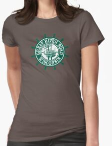 Great River Road Sign, Wisconsin, USA Womens Fitted T-Shirt
