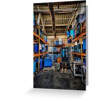 Condition Blue V Greeting Card