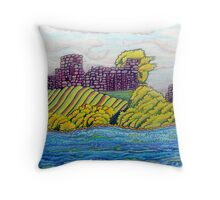 370 - BARNARD CASTLE FANTASY - DAVE EDWARDS - COLOURED PENCILS - 2012 Throw Pillow