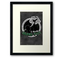 I Know Kung-Fu Framed Print
