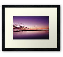 Pink Sunset Seascape Framed Print