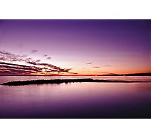Pink Sunset Seascape Photographic Print