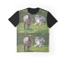 Fetch ~ Australian Shepherd ~ Oil Painting  Graphic T-Shirt