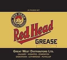 Red Head Grease Can Label Reproduction by JohnOdz