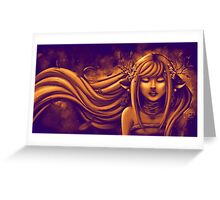 Automn Gold Bronze Greeting Card
