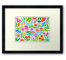 A VARIETY OF FLOWERS Framed Print