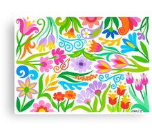 A VARIETY OF FLOWERS Canvas Print