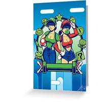 Mario Girls  Greeting Card