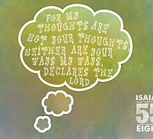 Isaiah 55:8 Scripture Greeting Card by JohnOdz