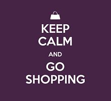 Keep Calm and Go Shopping Womens Fitted T-Shirt