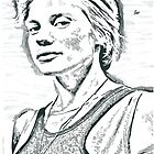 Katee Sackhoff Pencil & Ink Sketch by chrisjh2210