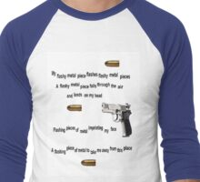 Flashy metal piece Men's Baseball ¾ T-Shirt