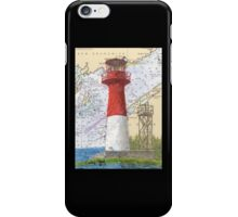 Cape Spencer Lighthouse NB Canada Chart Cathy Peek iPhone Case/Skin