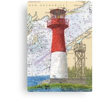 Cape Spencer Lighthouse NB Canada Chart Cathy Peek Canvas Print