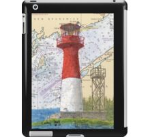 Cape Spencer Lighthouse NB Canada Chart Cathy Peek iPad Case/Skin