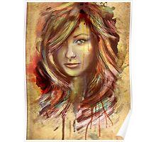 Olivia Wilde Portrait Tra Digital Painting Poster