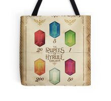 Legend of Zelda The Rupees Geek Line Artly Tote Bag