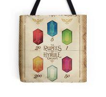 Legend of Zelda The Rupees Geek Line Artly Tote Bag