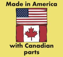Made In America With Canadian Parts Kids Tee