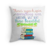 Sugar and Spines Throw Pillow