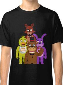 Five Nights at Freddy's - Freddy Fazbear, Foxy the Pirate Fox, Chica, & Bonnie Classic T-Shirt