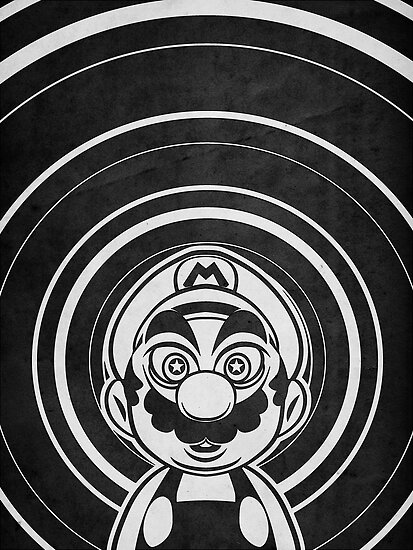 Super Mario Tripping Bros. Geek Line Artly  by barrettbiggers