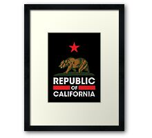 Republic of California - Dark Framed Print