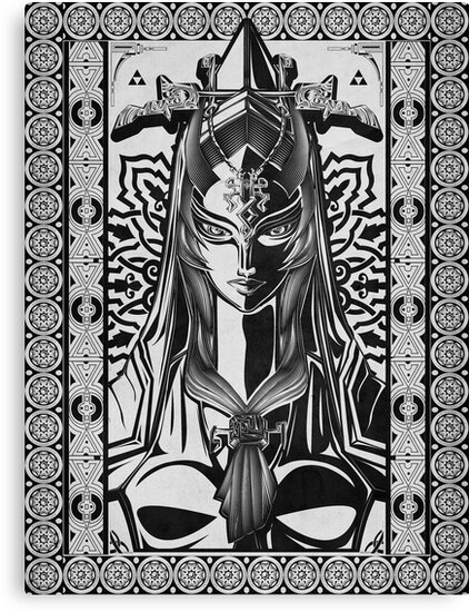 Legend of Zelda Midna Twilight Princess Geek Line Artly  by barrettbiggers