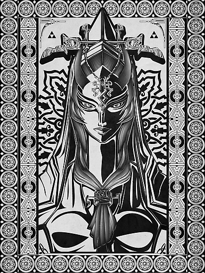 Legend of Zelda Midna Twilight Princess Geek Line Artly  by barrettbiggers