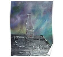 Still Life - Wine, goblet, smoke Poster