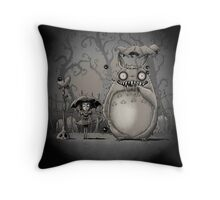 My Creepy Neighbor Throw Pillow