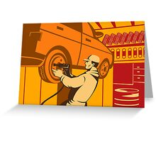 Mechanic Automotive Repairman Retro Greeting Card