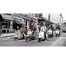 Mods on scooters Photographic Print